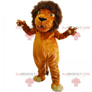 Wild animal mascot - Lion with mane - Redbrokoly.com