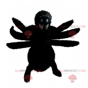 Černý pavouk maskot - Redbrokoly.com