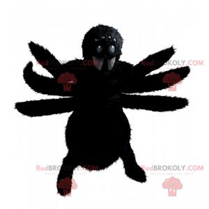 Schwarzes Spinnenmaskottchen - Redbrokoly.com