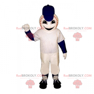 Baseball ball maskot med uniform - Redbrokoly.com