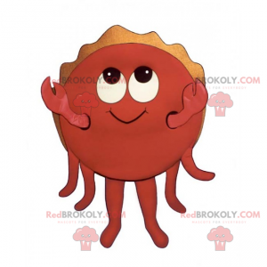 Mascote bebê caranguejo - Redbrokoly.com