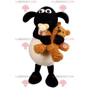 Mascotte delle pecore del bambino con gli accessori -