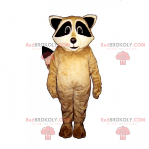 Baby wasbeer mascotte - Redbrokoly.com