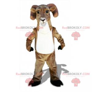 Hvit-bellied ram maskot - Redbrokoly.com