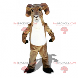 Mascote carneiro de barriga branca - Redbrokoly.com