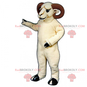 Mascotte di ariete bianco - Redbrokoly.com