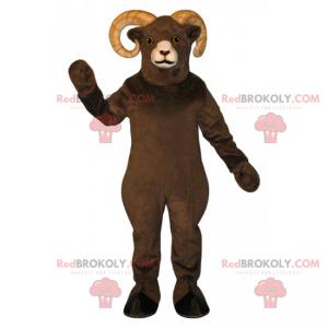 Mascote de carneiro marrom - Redbrokoly.com