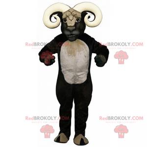 Zwart-wit ram mascotte - Redbrokoly.com