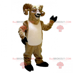 Mascote carneiro sorridente - Redbrokoly.com