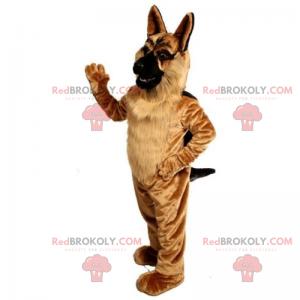 German Shepherd mascot with soft coat - Redbrokoly.com