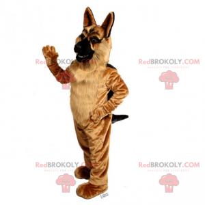 Longhaired German Shepherd Mascot - Redbrokoly.com