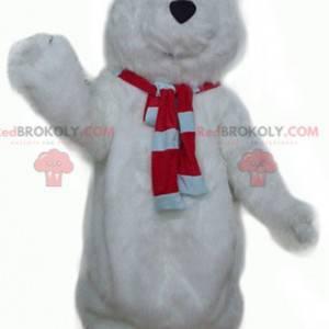 Velký chlupatý a roztomilý bílý medvěd maskot - Redbrokoly.com