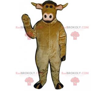 Rundvlees mascotte met roze neus - Redbrokoly.com