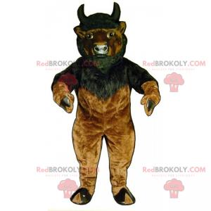 Beef mascot with little horns - Redbrokoly.com