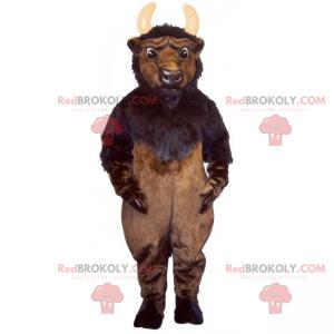 Mascote de cabra com chifres pequenos - Redbrokoly.com