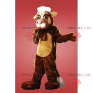 Brown cattle mascot - Redbrokoly.com