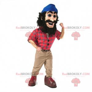 Lumberjack maskot i rutete skjorte - Redbrokoly.com