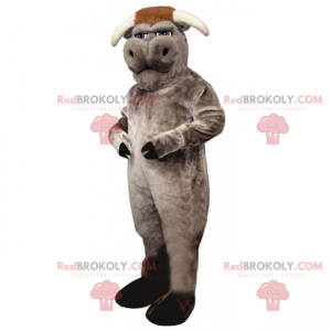 Graues Büffelmaskottchen - Redbrokoly.com