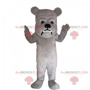 Bulldog maskot med stort hode - Redbrokoly.com