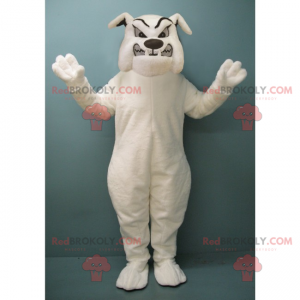 Rabid white bulldog mascot - Redbrokoly.com