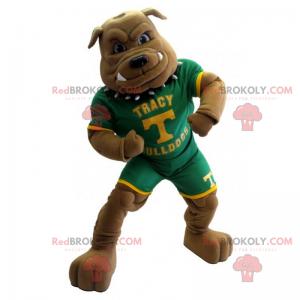 Bulldog mascot dressed in American football - Redbrokoly.com