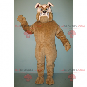 Brown and beige rabid bulldog mascot - Redbrokoly.com
