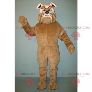 Tollwütiges Bulldoggenmaskottchen in Braun und Beige -