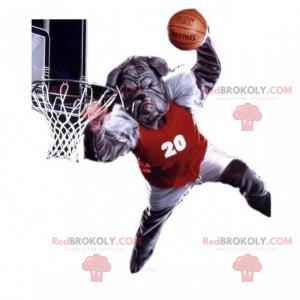 Maskot buldok basketbalový hráč - Redbrokoly.com