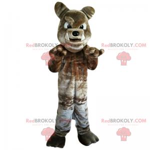 Hnědý buldok maskot - Redbrokoly.com