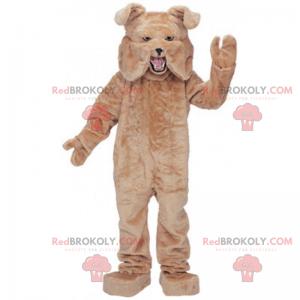 Veldig munter brun bulldog maskot - Redbrokoly.com