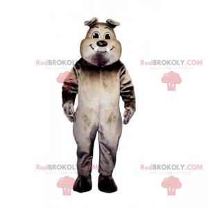 Smiling bulldog mascot - Redbrokoly.com