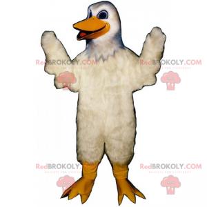 Smiling white duck mascot - Redbrokoly.com