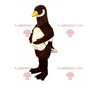 Černá a bílá kachna maskot - Redbrokoly.com