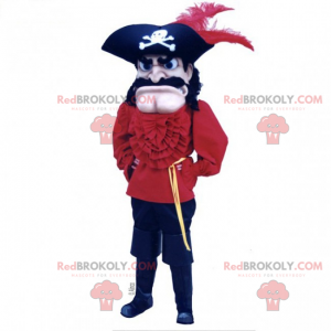 Piratskibs kaptajn maskot - Redbrokoly.com