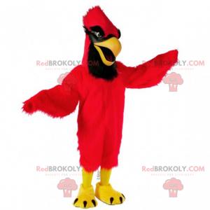 Rotes und schwarzes Kardinalmaskottchen - Redbrokoly.com