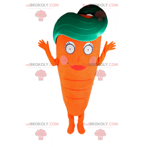 Gulerodsmaskot med kvindelig ansigt - Redbrokoly.com