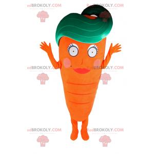 Karottenmaskottchen mit weiblichem Gesicht - Redbrokoly.com