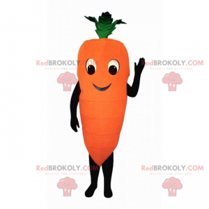 Mascotte sorridente della carota - Redbrokoly.com