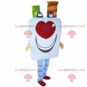 Usmívající se karta maskot - Redbrokoly.com