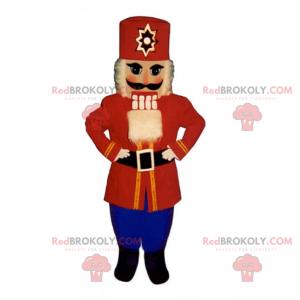 Red and blue nutcracker mascot - Redbrokoly.com