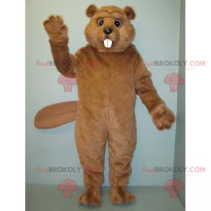 Mascote castor de pêlo macio - Redbrokoly.com