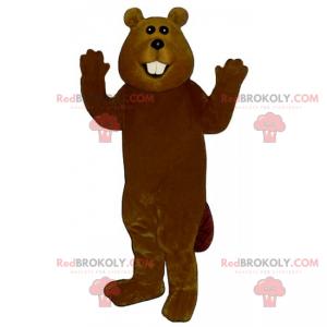 Mascote de castor com bochechas grandes - Redbrokoly.com
