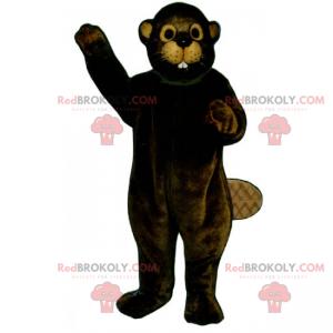 Mascota de castor con orejas beige - Redbrokoly.com