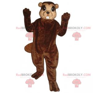 Beaver mascot with small ears - Redbrokoly.com