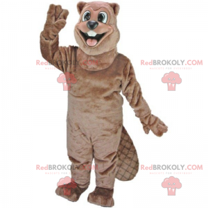 Mascote castor sorridente - Redbrokoly.com
