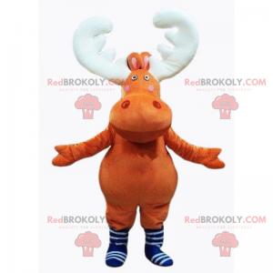 Stuffed deer mascot with white horns - Redbrokoly.com