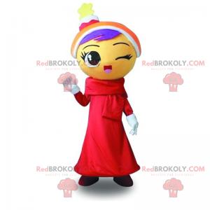 Vánoční sborový zpěvák maskot - Redbrokoly.com
