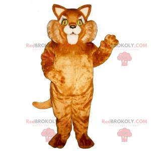 Katzenmaskottchen mit großer Wange - Redbrokoly.com