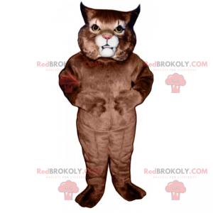 Katzenmaskottchen mit spitzen Ohren - Redbrokoly.com
