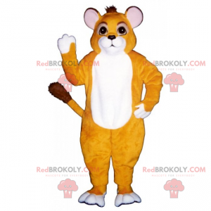 Cat mascot with small round ears - Redbrokoly.com